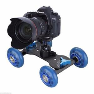 DSLR Camera Video Rail Rolling Track Slider Skater Table Dolly