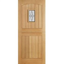 Farmhouse Stable Oak External Door Triple Glazed Mortice & Tenon