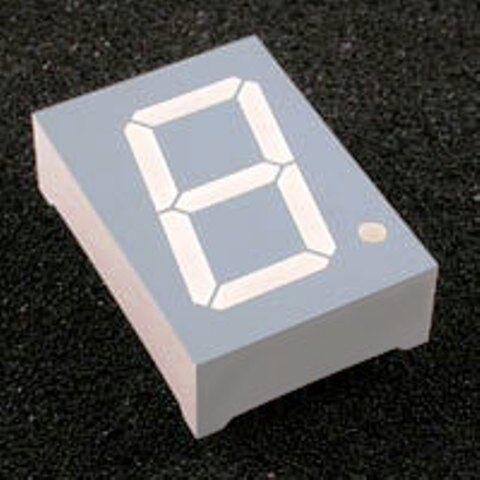 """7 Seg SINGLE DIGIT LED DISPLAY 1.0"""" G Y R TWO Units"""