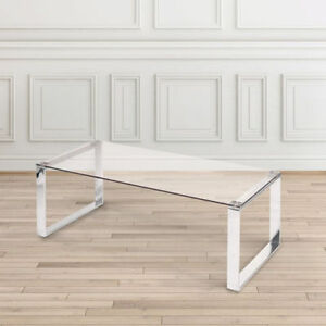 Modern Tempered Glass Coffee Table - Brand New in Packaging $190
