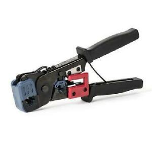 H Tools Deluxe 2-in-1 RJ45, RJ11 Crimping Modular Tool for 8 or