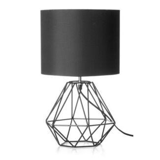 2 x Black Geometric Table Lamps