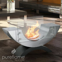 NEW 1/2 ELIPSE ETHANOL BIO FUEL FIREPLACE-FREE DELIVERY