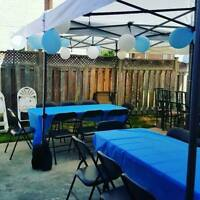 PAY NO HST! Party / Event Rentals - tents, tables, chairs & more