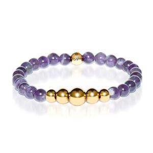 50% OFF All Jewellery - Intuitive | Gold Aura Amethyst Bracelet