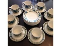 Staffordshire Fine Tableware Tea Set, Midwinter Pattern (preowned) - 8 place settings + extras