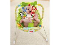 FISHER PRICE RAINFOREST FRIENDS BOUNCER- NEW IN BOX