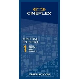 Cineplex General Admission Ticket.