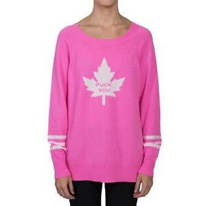 """NWT Augustina Boutique """"Puck You"""" Cashmere Sweater"""