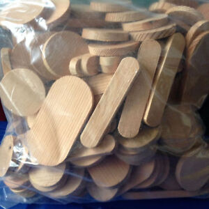 Wood Shapes - pre-cut, ready for crafting, 3 crafting shapes
