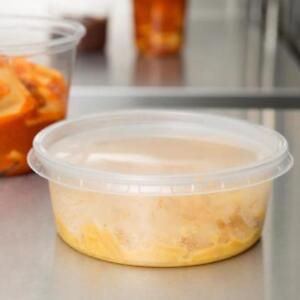 8 oz. Microwavable Translucent Round Deli Container & Lid 250/Case*RESTAURANT EQUIPMENT PARTS SMALLWARES HOODS AND MORE*