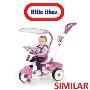 NEW LITTLE TIKES 4-IN-1 TRIKE - 114410198 - TRICYCLE - BROWN/PINK