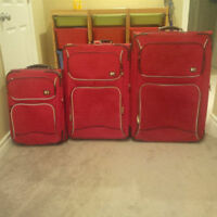 6 Piece Red Tommy Hilfiger Luggage Set Only $150!