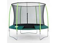 TP Trampeazee 10ft Trampoline + enclosure + cover brand new