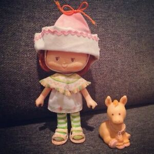 Vintage Strawberry Shortcake CAFE OLE Doll + Burrito Pet