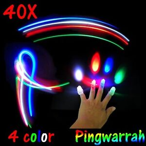 40X Led Party Laser Finger Light Beams Torch Ring Kids Boy Dancing Wave Toy fun