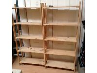 2 Wooden Shelf Unit