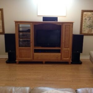 SOLID OAK ENTERTAINMENT UNIT - REAL OAK!!!!!!!!