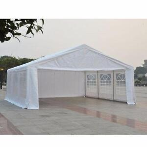 20'x20' Heavy-duty Large Outdoor Garage Wedding Party Event Tent Patio Gazebo Canopy with Removable Sidewall, White