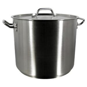 32 Qt. Heavy-Duty Stainless Steel Stock Pot with Cover *RESTAURANT EQUIPMENT PARTS SMALLWARES HOODS AND MORE*