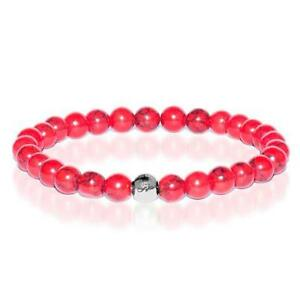50% OFF All Jewellery - Protection | Silver Essence Red Turquoise Bracelet