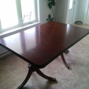 REDUCED!!!!    Mahogany Traditional Table & 6 Matching Chair set