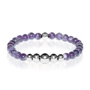 50% OFF All Jewellery - Intuitive   Silver Aura Purple AmethystBracelet