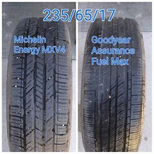 235/65/17: 1 Michelin Energy, 1 Goodyear Assurance. - like new
