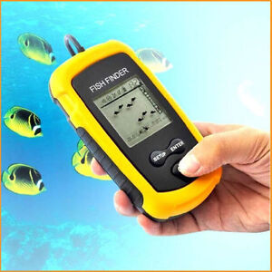 Fish Finder Portable Sonar Wired LCD Depth Alarm 100M AP Tackle
