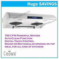 Auto Clean Undercabinet Range Hood Kitchen Exhust Fan on Sale
