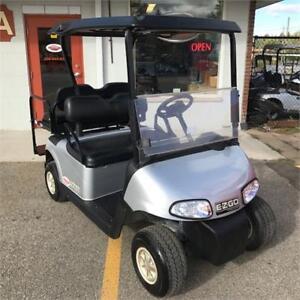 2014 EZGO RXV 48V Golf Cart Silver / Black