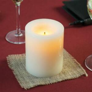 "4"" Cream Programmable Flameless Real Wax Pillar Candle - 6/Case *RESTAURANT EQUIPMENT PARTS SMALLWARES HOODS AND MORE*"