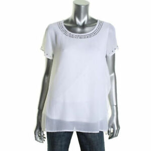 CLEANING MY CLOSET - BRAND NEW WHITE BEADED BLOUSE SZ M/L Kitchener / Waterloo Kitchener Area image 2