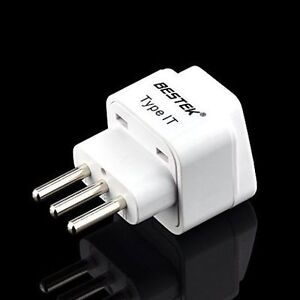 *NEUF/ NEW* Grounded Travel Plug Adapter for Italy