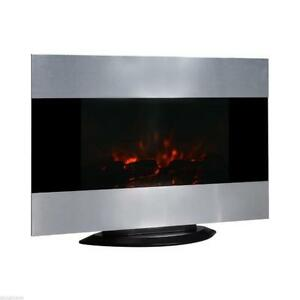 """Electric Wall Fireplace Mount Free Standing 35.5"""" w/ Remote FIRE"""