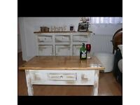 Shabby Chic table with cupboard