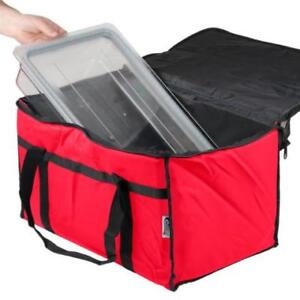 Red Insulated Nylon Food Delivery Bag / Pan Carrier