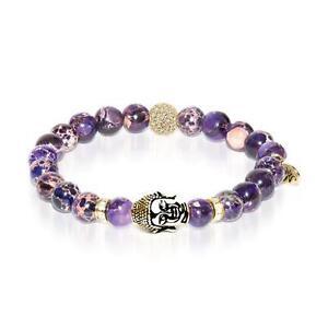 50% OFF All Jewellery - Inner Child | Gold Buddha | Purple Regarte Bracelet