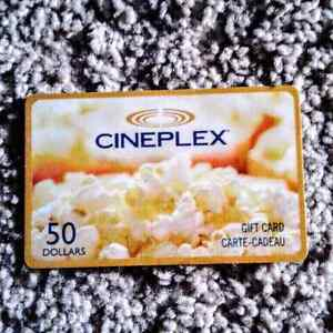 50 gift card for cineplex