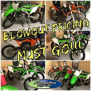 2012 - 2017 KAWASAKI KX, KTM SX-F BLOWOUT PRICING