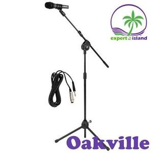 Pyle Pro (PMKSM20) Microphone and Tripod Stand With Extending Boom and Mic Cable Package