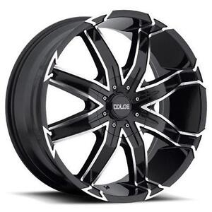 """!!BRAND NEW 22"""" RIMS BLACK/MACHINED $2450 WITH TIRES!!"""