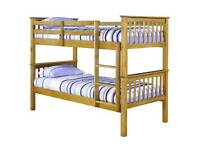 novaro bunk beds in wood colour free assembly service and delivery