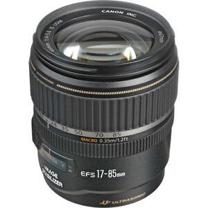 Canon EF-S 17-85mm IS USM f/4-5.6 zoom lens (As New)