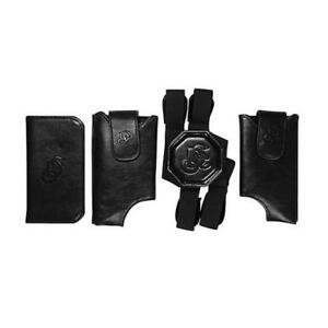 LEATHER HOLSTER LD WEST CELL+WALLET SHOULDERS (T-FIT) - BLACK