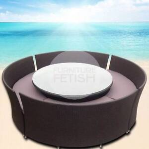 Massive Round Outdoor Dining Set Rattan Wicker Outdoor Furniture Nerang Gold Coast West Preview