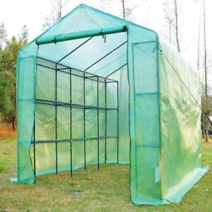 Portable Greenhouse /8'x6' Greenhouse for flowers Plants w/shelv