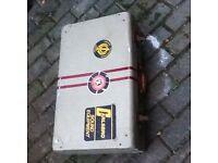 Metal retro suitcase