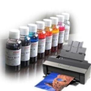 Eco solvent ink for desktop printers, Epson 1430, R2000, 100ml Bottle