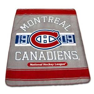 New NHL Ice Hockey Montreal Canadiens Rolled Fleece Throw Blanke
